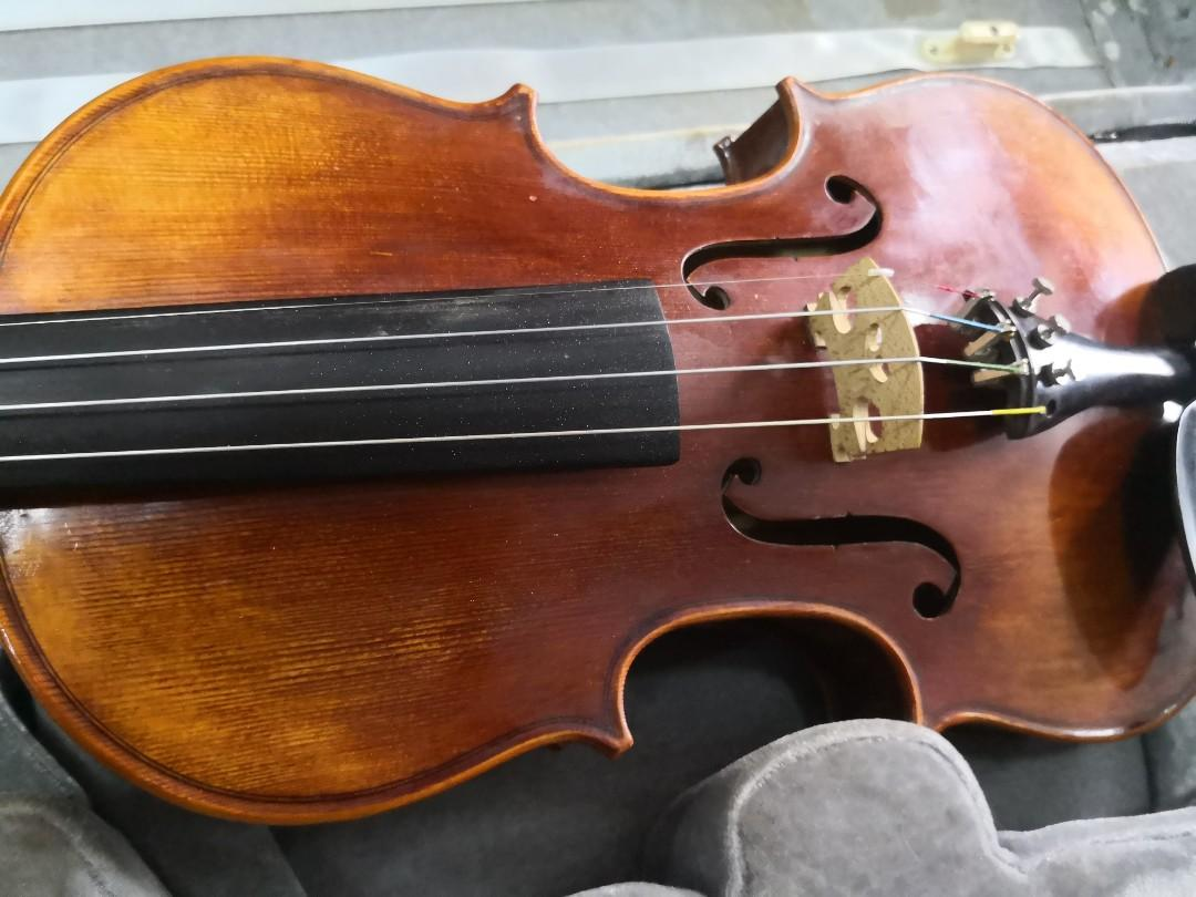 收藏品~歐洲名牌手工制单板4/4小提琴