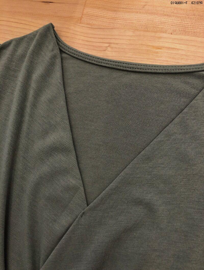 #交叉設計針織上衣