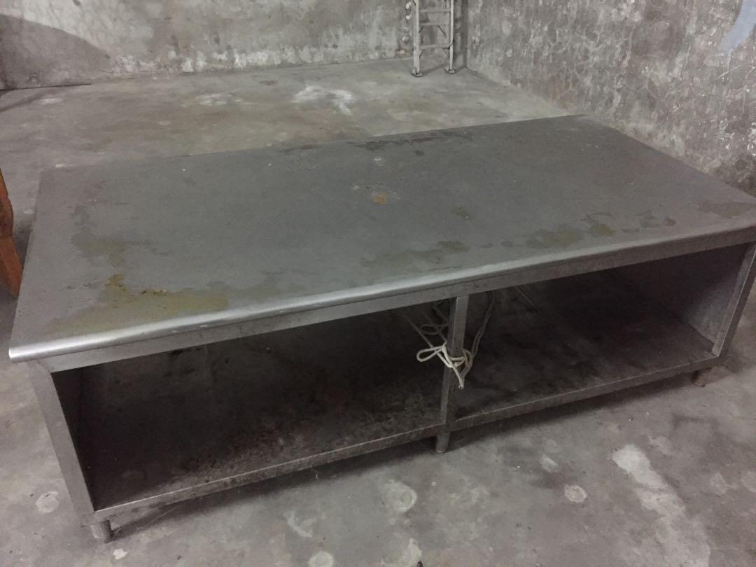 超實用 極大8尺*4尺不鏽鋼雙層工作台/雙層工作台/不鏽鋼工作台/八尺工作台