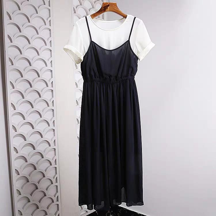 全新正韓波西米亞風 上衣+吊帶裙洋裝套裝連身裙