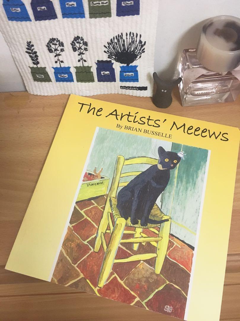 藝術大師的貓咪們 the artists' mews 貓咪 圖文書 原文 貓咪入名畫
