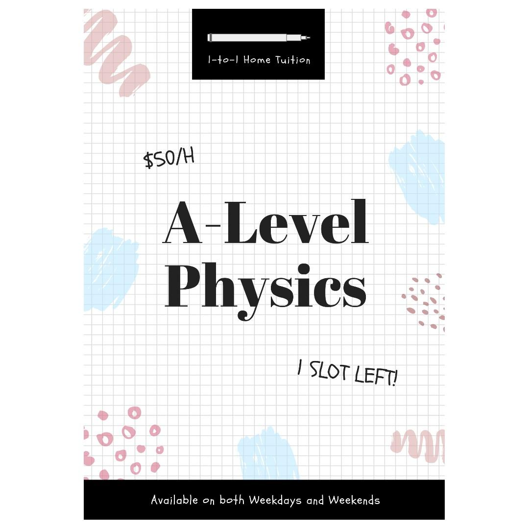 A levels Physics Tuition