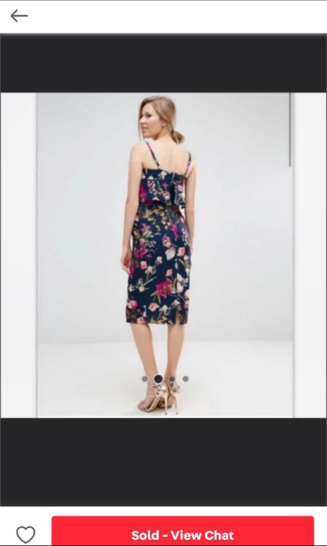 ASOS floral maternity dress
