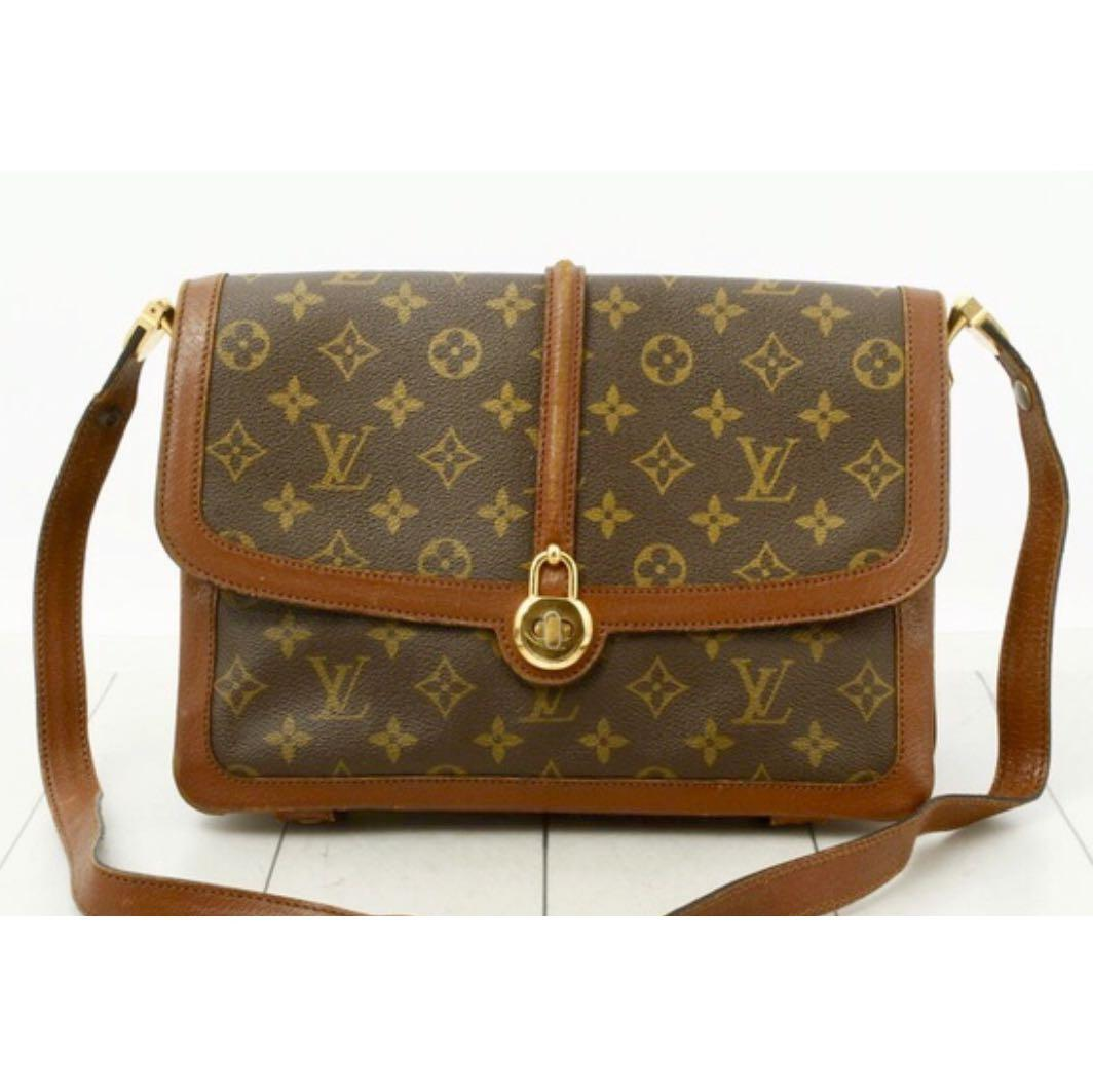💯%Authentic Louis Vuitton Monogram Vendome Sac Large Saddle Sling Bag limited edition