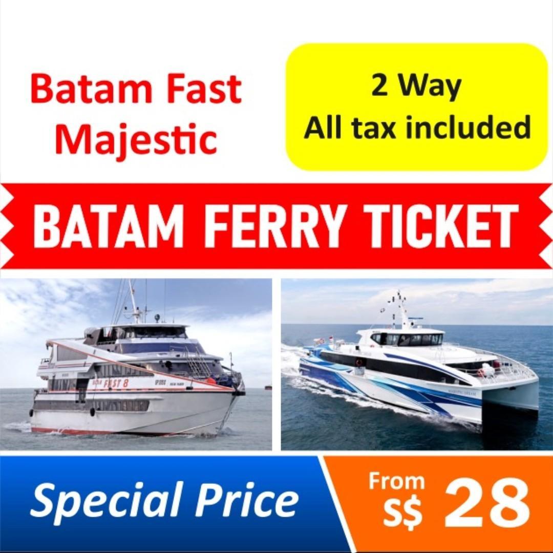 Batam Ferry Ticket Batam Fast Ferry Majestic Ferry - Cheap 2 ways All-inclusive