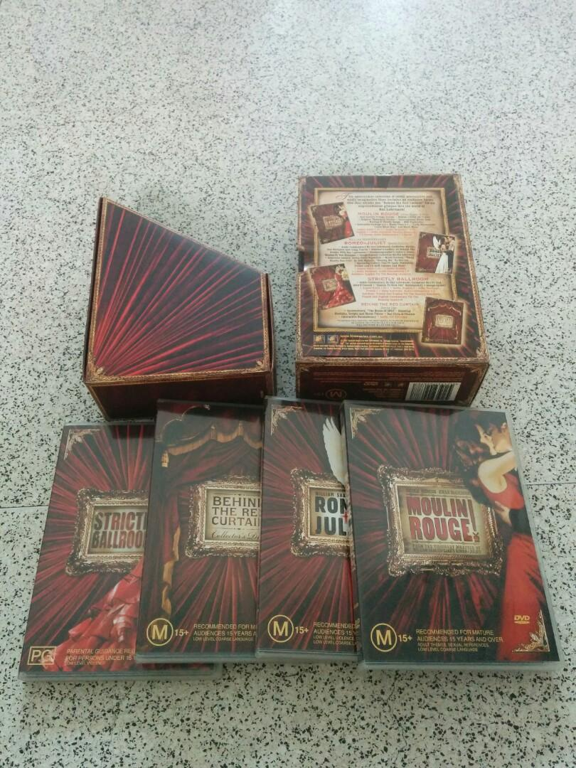 Baz Luhrmann S Red Curtain Trilogy 5 Dvd Movies L Music Media Cds Dvds Other On Carousell