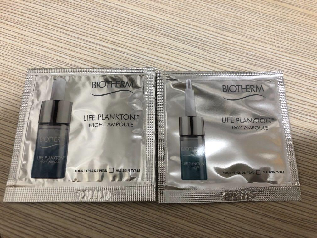 Biotherm sample - life plankton day ampoule 1ml + night ampoule 1ml