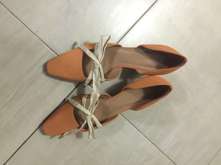 小ck 鞋帶式低跟鞋