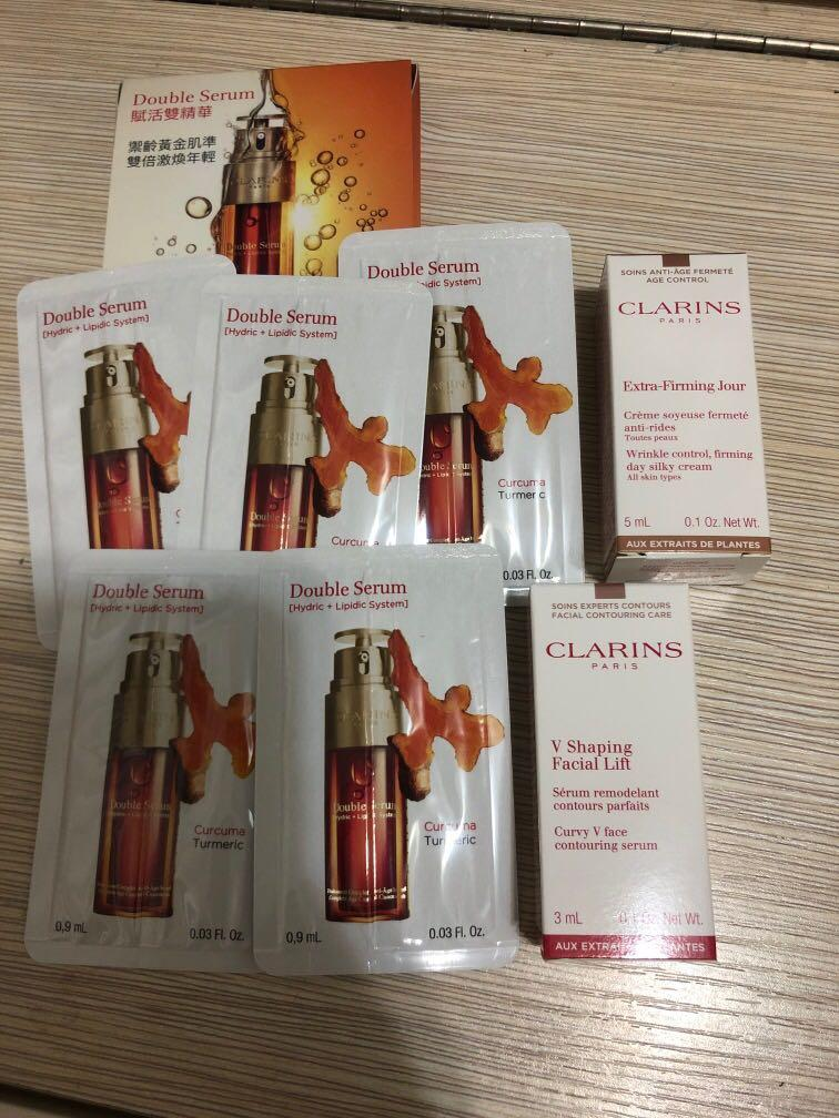 Clarins Double Serum 賦活雙精華 x 5 + extra firming jour + v shaping facial lift