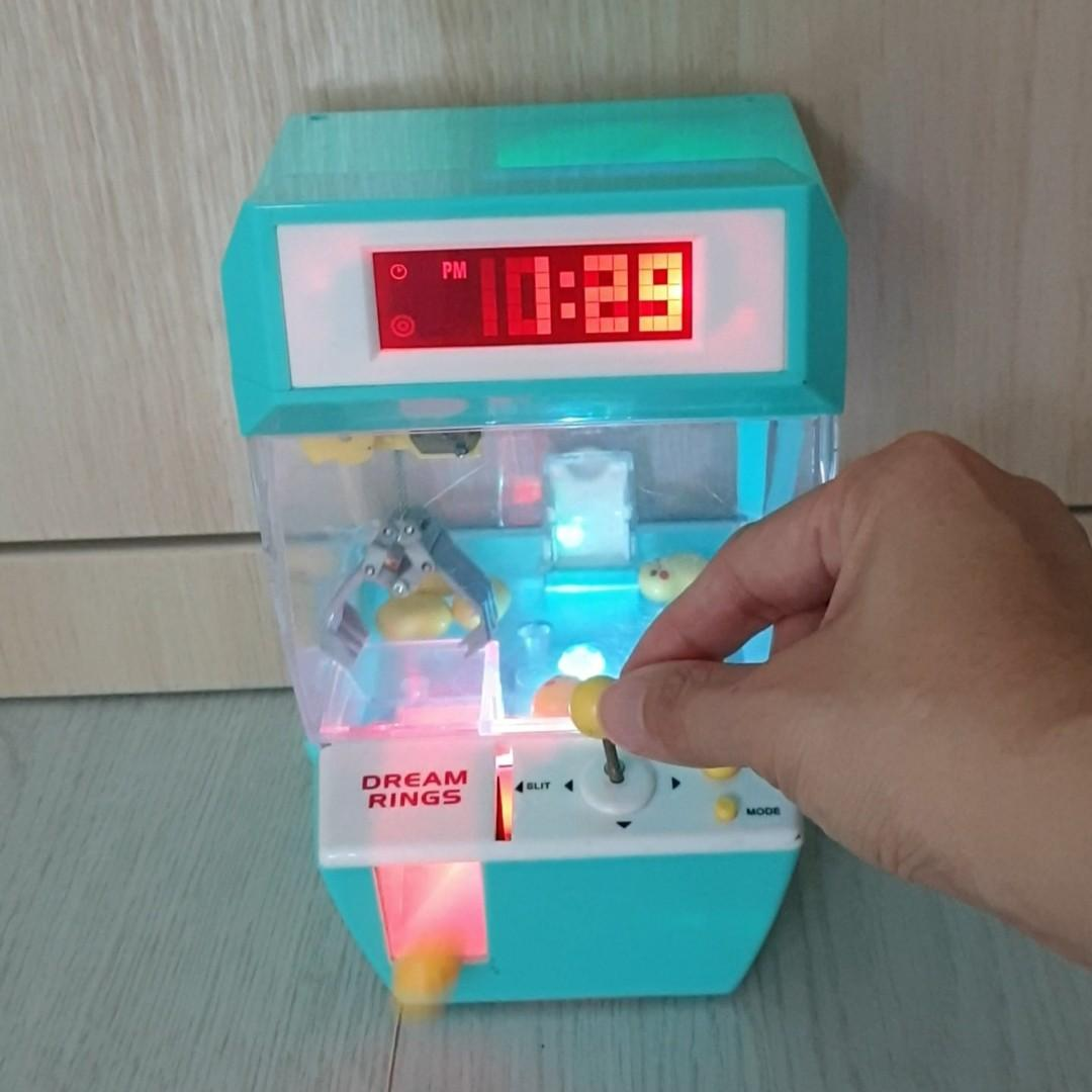 Claw Machine Arcade Toy with Music and Alarm Clock for Children - Dream Rings