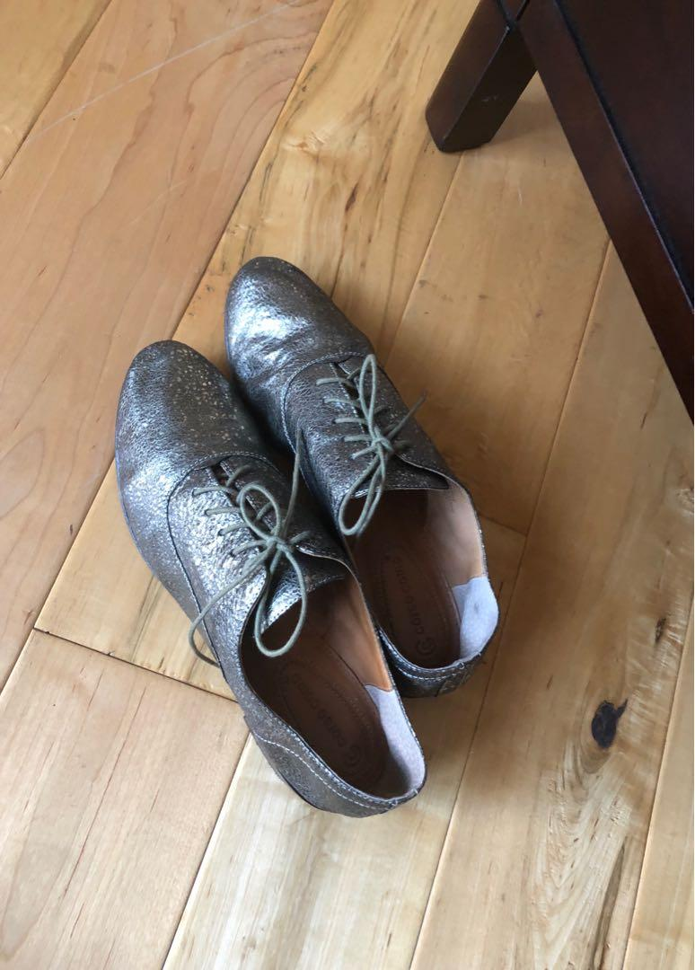 Corso Como Metallic Gold Leather Soho Oxford shoes