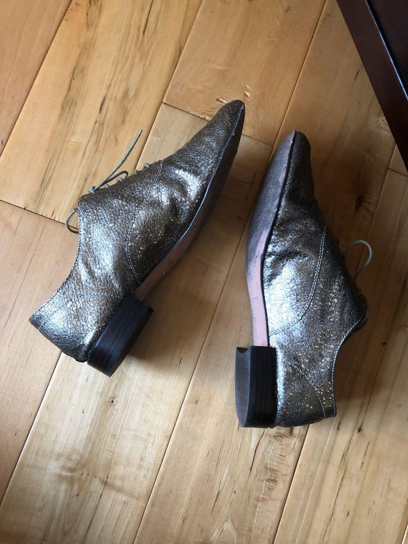 Corso Como Metallic Gold Leather Soho Oxford shoes