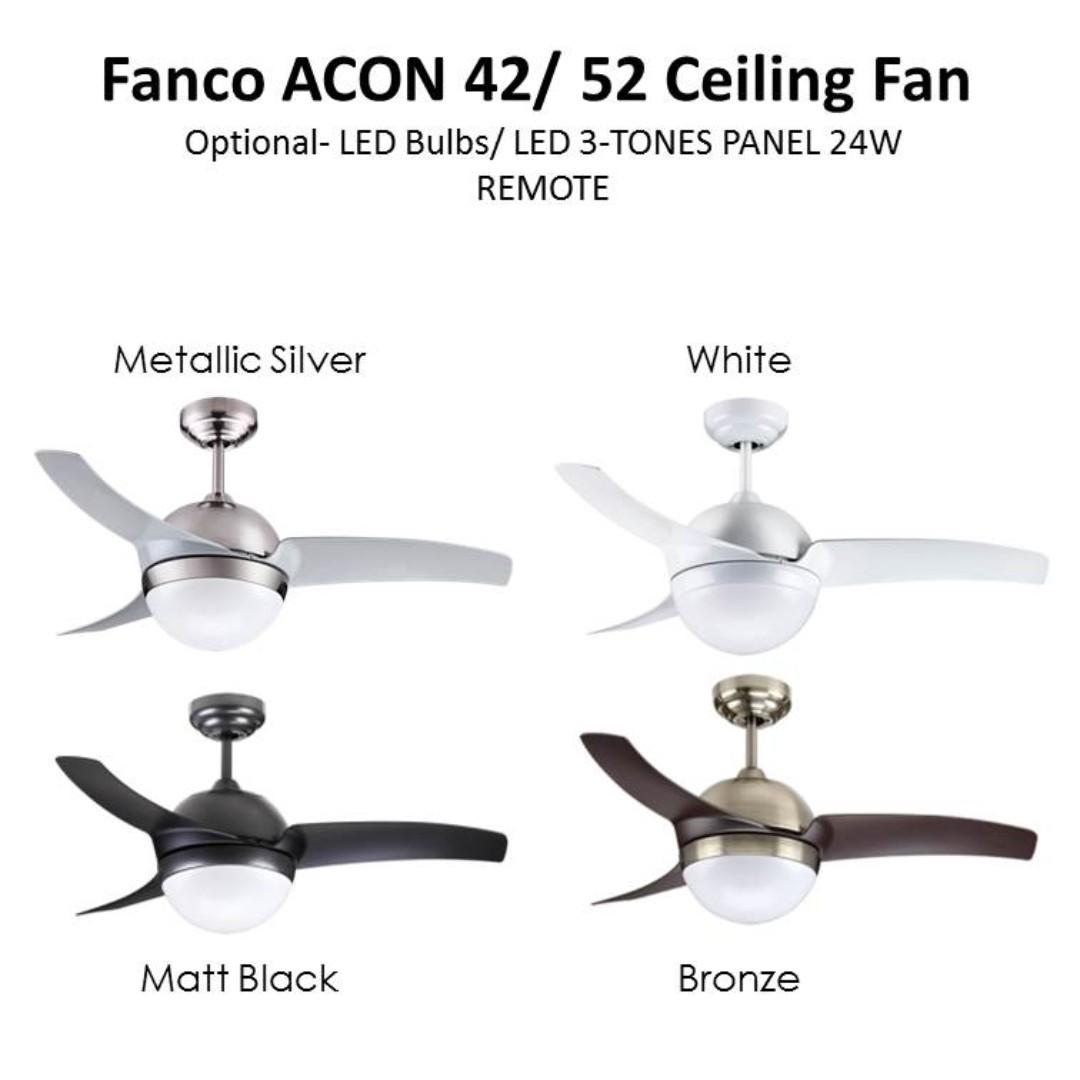 "Fanco  42""/52"" E27/LED 3-Tones"