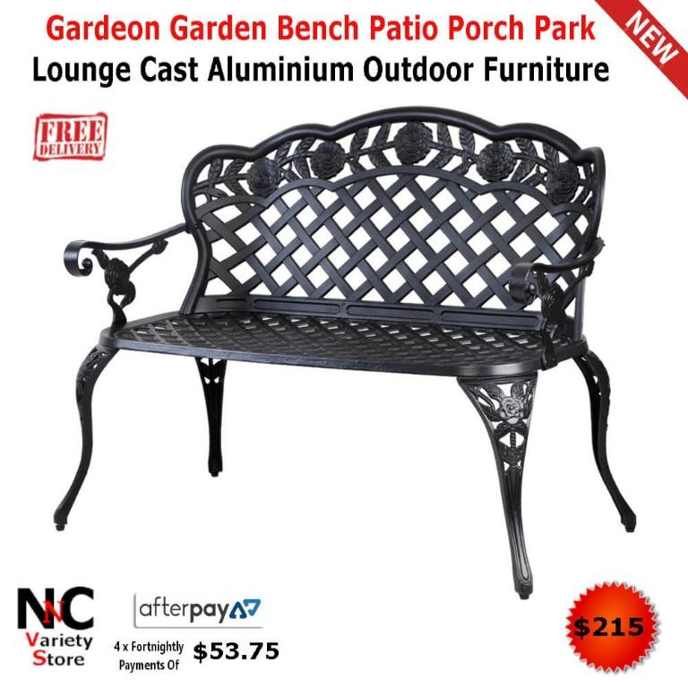 Gardeon Garden Bench Patio Porch Park Lounge Cast Aluminium Outdoor Furniture