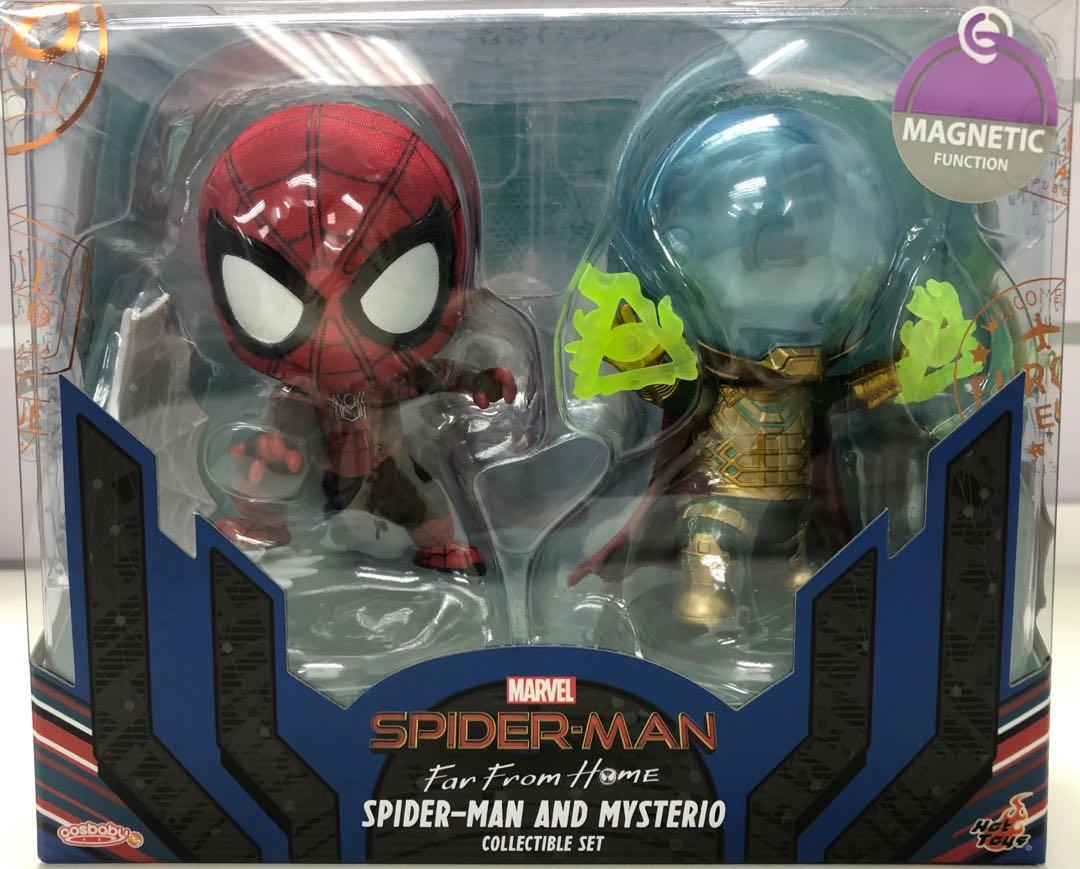 Hot Toys Cosbaby Spider-man and Mysterio 蜘蛛俠 神秘客