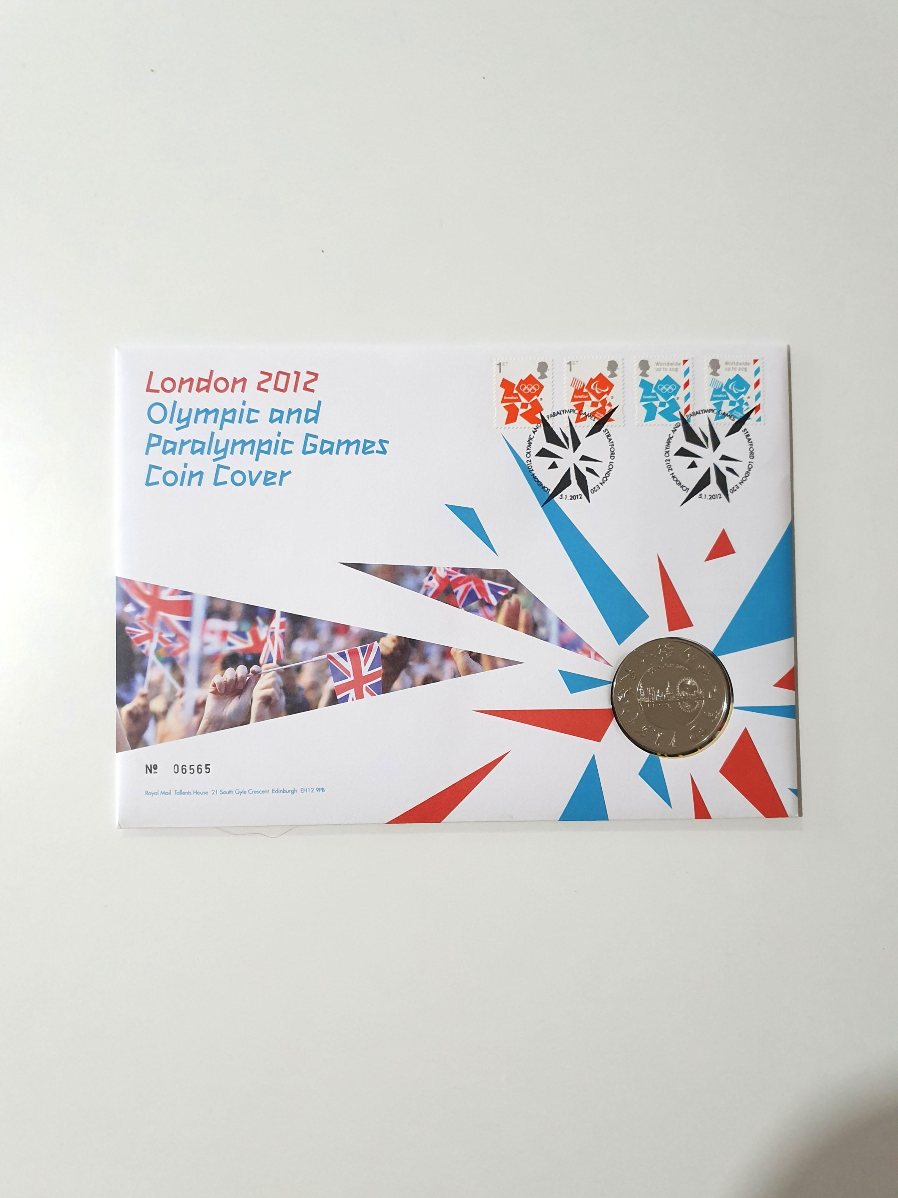 London 2012 Olympics Games Coin Cover / Stamp