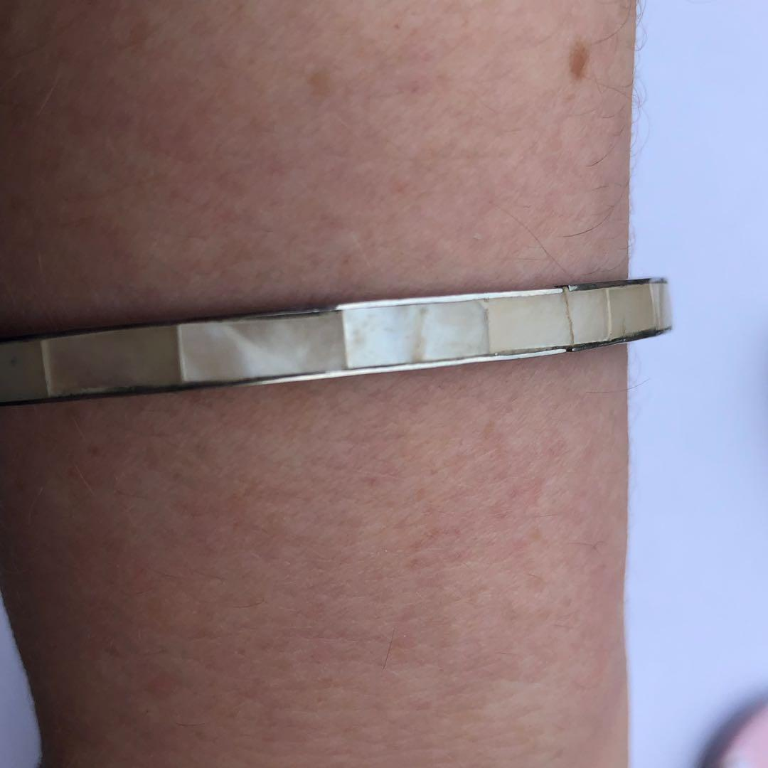 Mother of Pearl style thin bracelet  - ( Price includes free standard postage within Australia