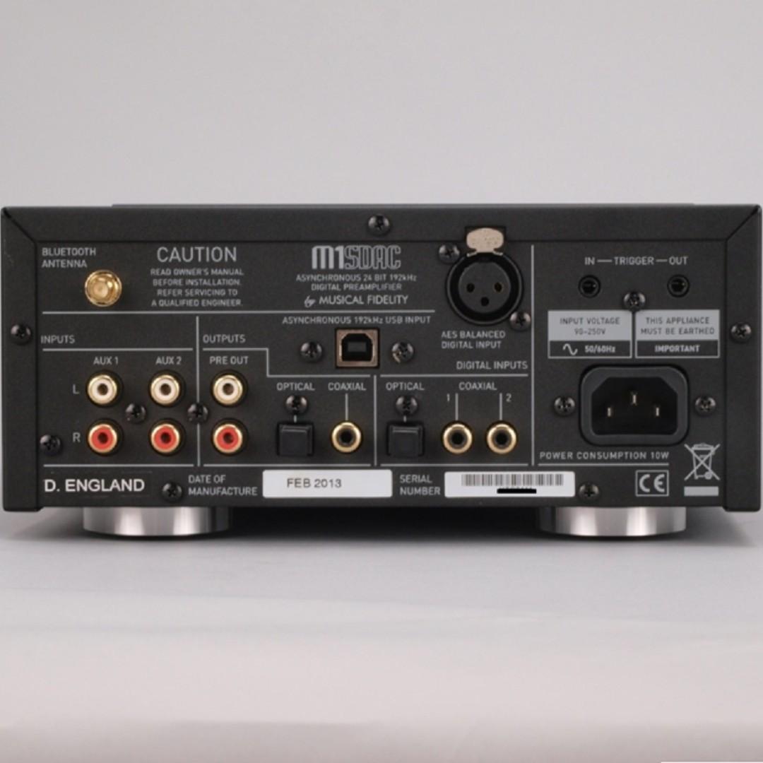 Musical Fidelity M1 SDAC 數位 / 類比轉換、USB+藍牙無線 DAC前級、耳擴 - DEMO