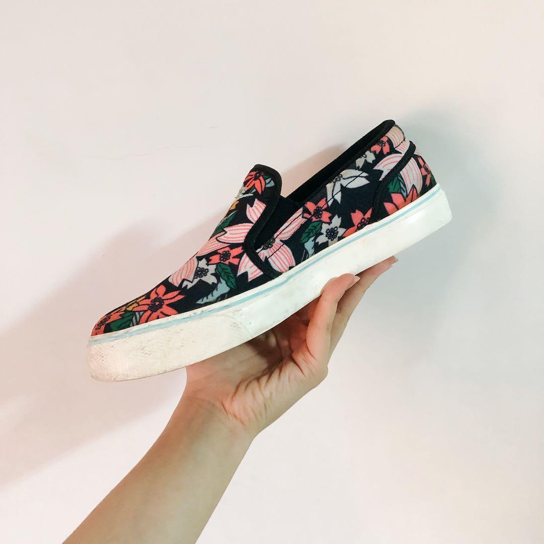 降價✨冬日戀花🌹Nike 限量 食人花圖案經典復刻版Slip on 黑粉綠 女鞋