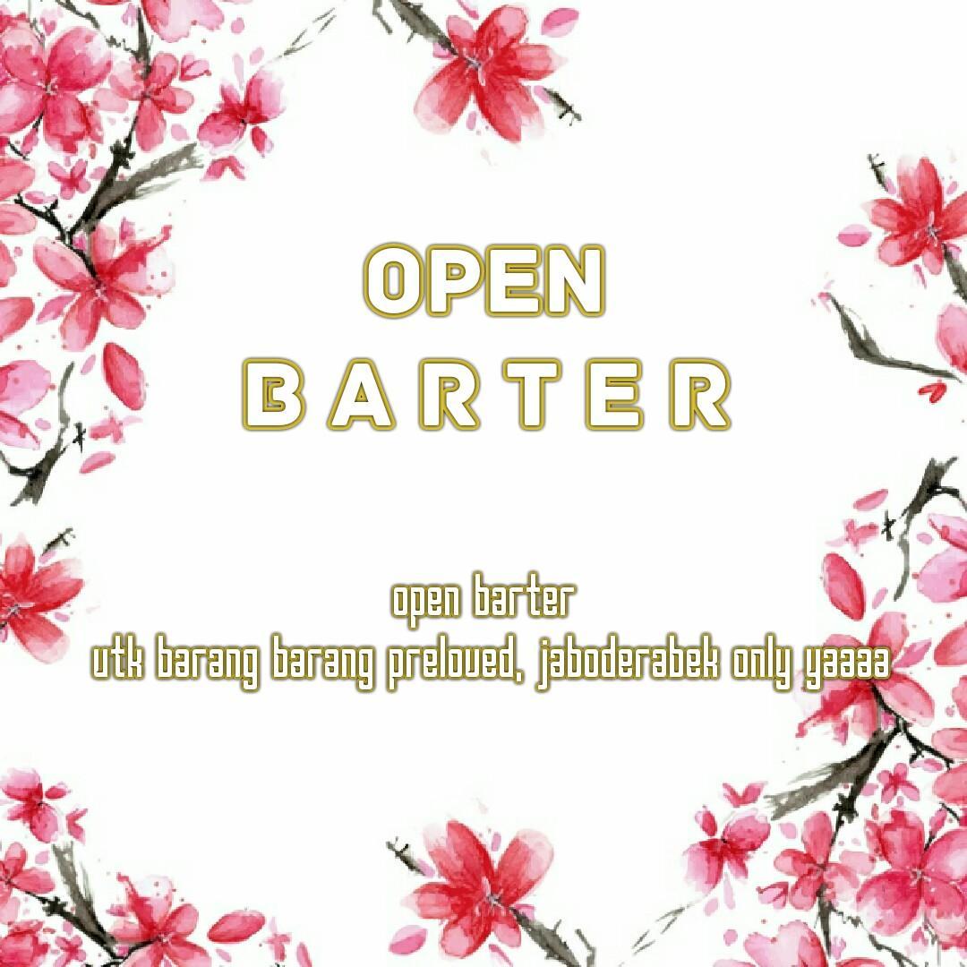 OPEN BARTER PRELOVED