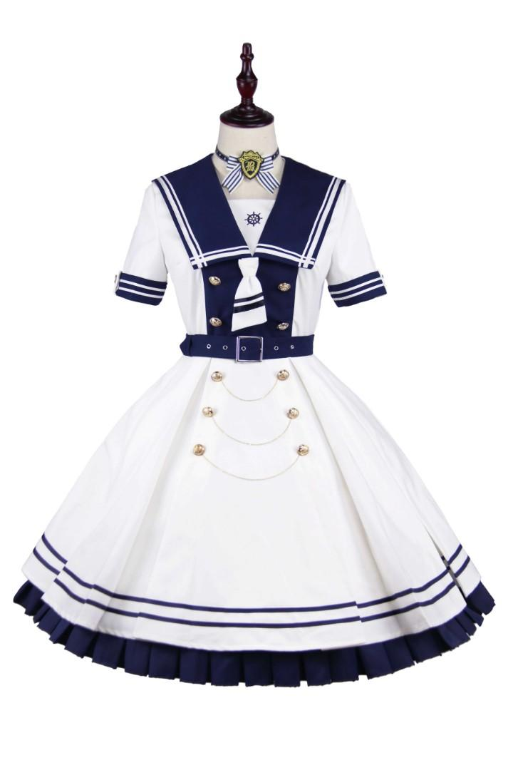 PinkyWinky Deep Blue Sailor Lolita Dress