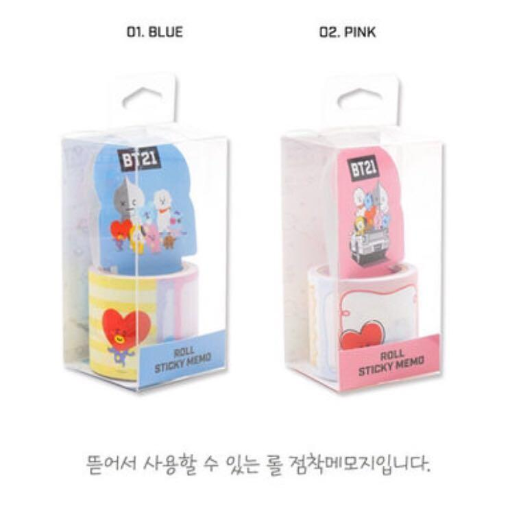 [PRE-ORDER] BT21 TEAR OFF ROLL STICKY NOTE