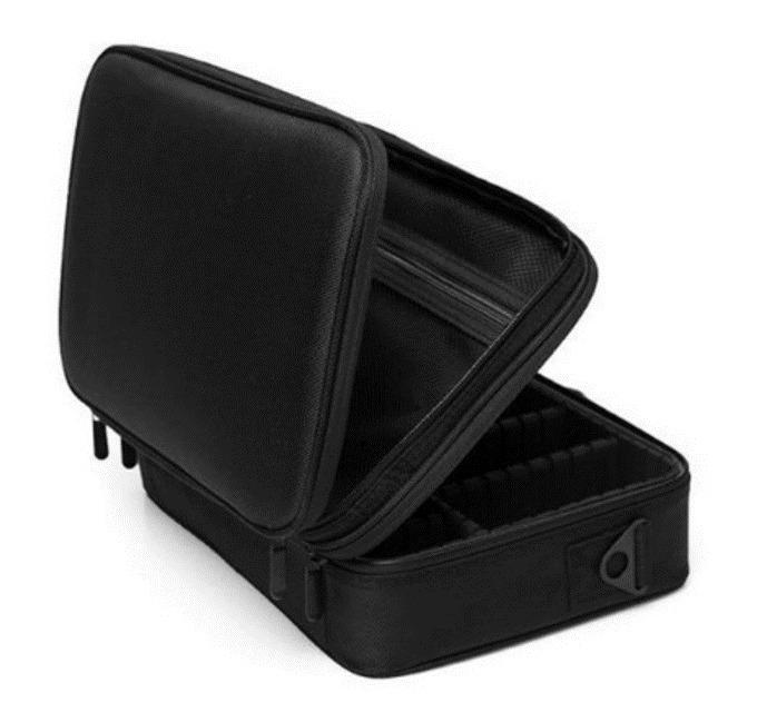 Professional Large Beauty Makeup Cosmetic Bag Toiletry Storage Organizer Black and Pink