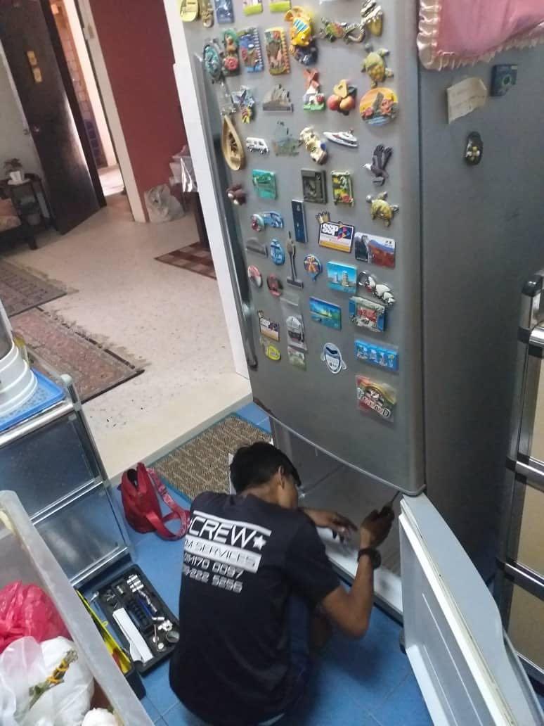 Repair mesin basuh & peti sejuk