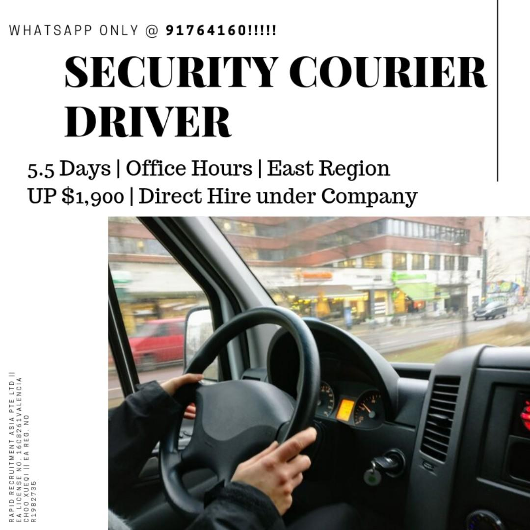 Security Couriers Drivers (5.5 days, PLRD req, Gross $2000+)