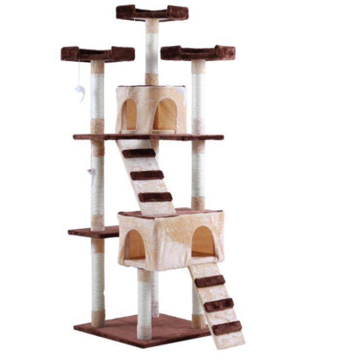 Skiiddii Large 175cm Comfy Cat Tree Play Bed Scratcher House Scratching Post