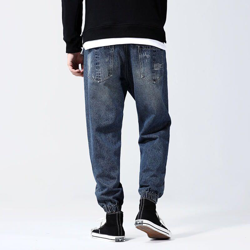 🇯🇵🇰🇷日韓系Streetwear做舊牛仔褲束腳褲