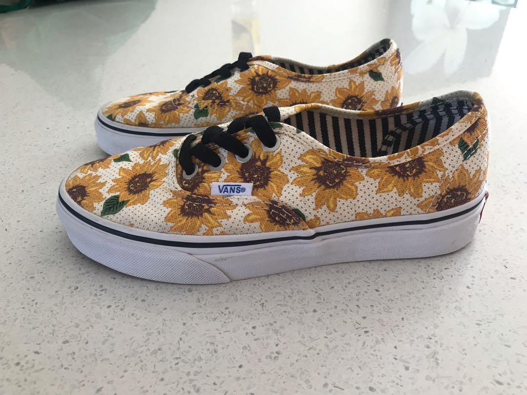 Sunflower vans womens size 5.5