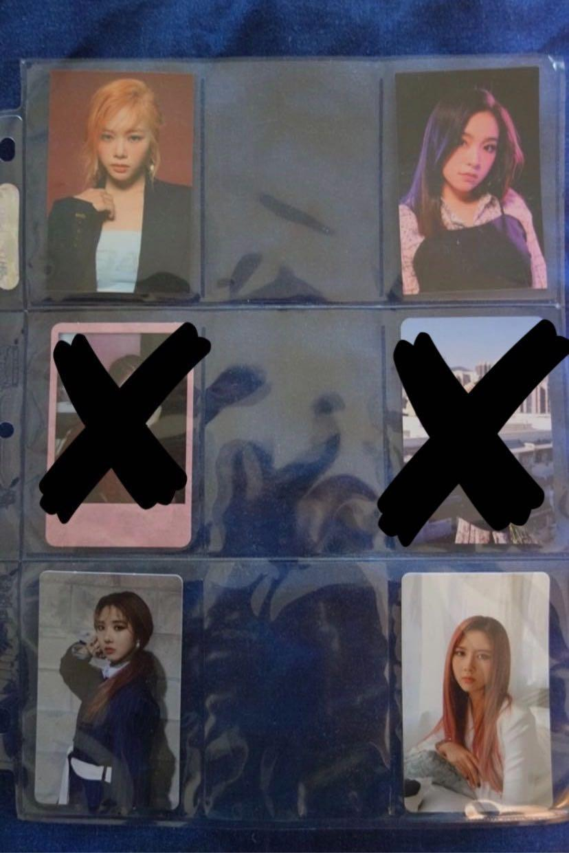 Twice, blackpink, Dreamcatcher, Mamamoo photocards and extras