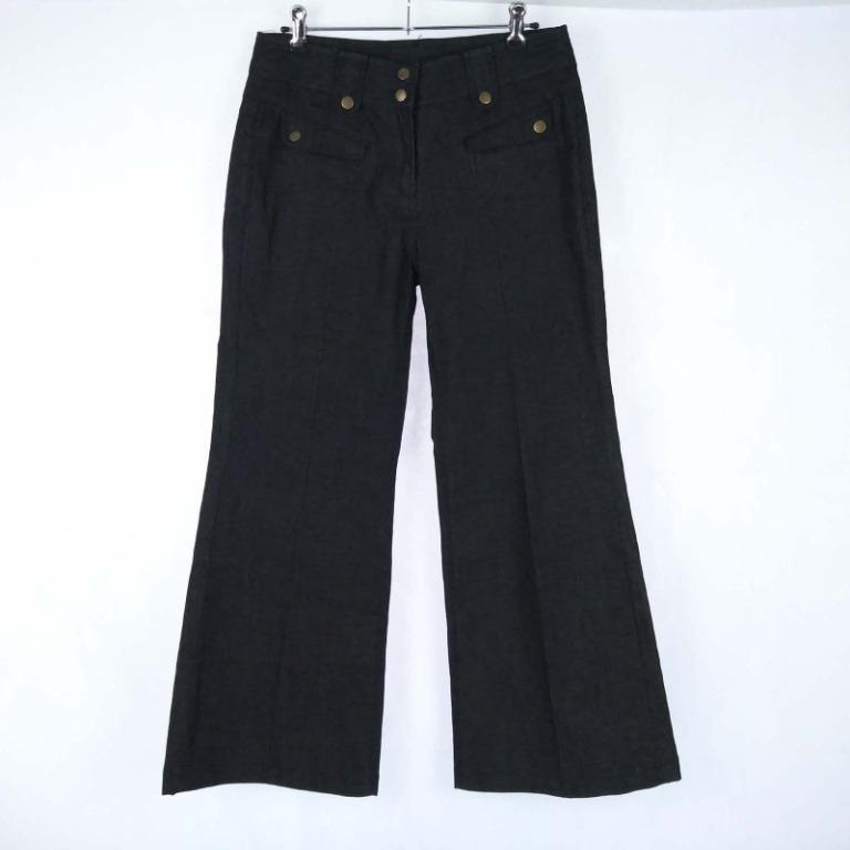 Vanessa Tong Designer Boot Cut Pants Women's Size 10 W30