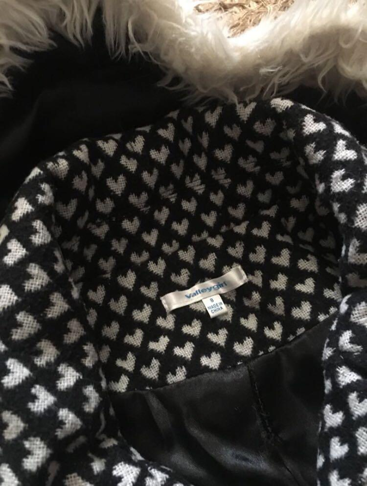 Winter Jacket Polkadot Coat