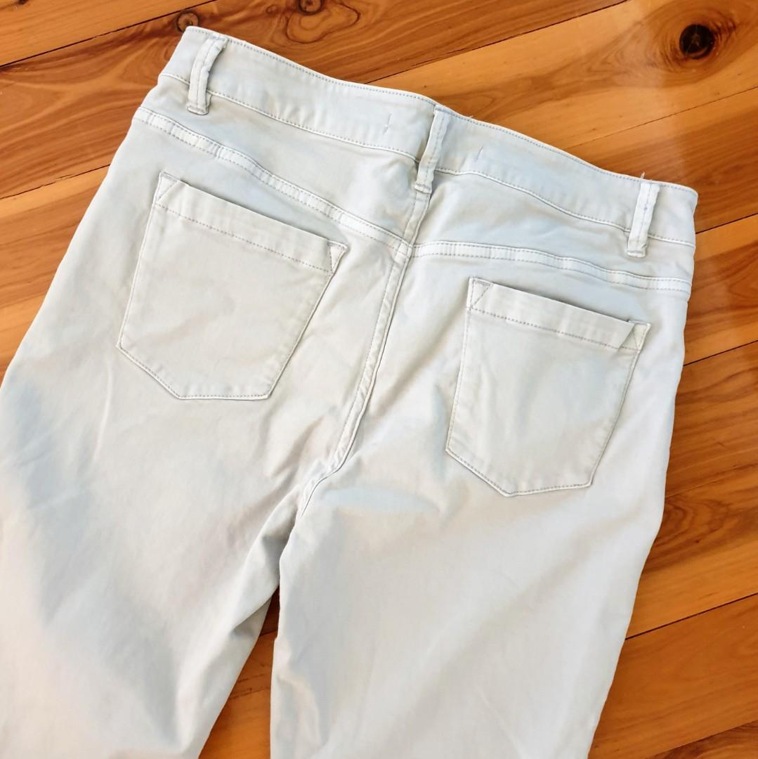 Women's size 12 'COUNTRY ROAD' Gorgeous grey stretch skinny pants - AS NEW