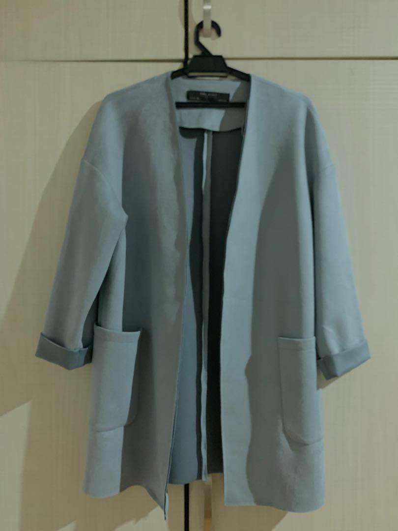 ZARA baby blue coats