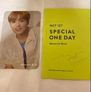 NCT 127 Haechan Japan memorial book photocard