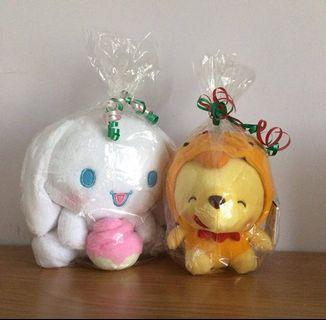 Brand New Cinnamaroll and Winnie the Pooh Plush
