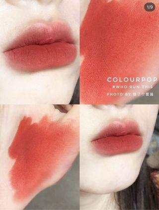 Colourpop 唇膏筆 霧面口紅 who run this 肉桂橘