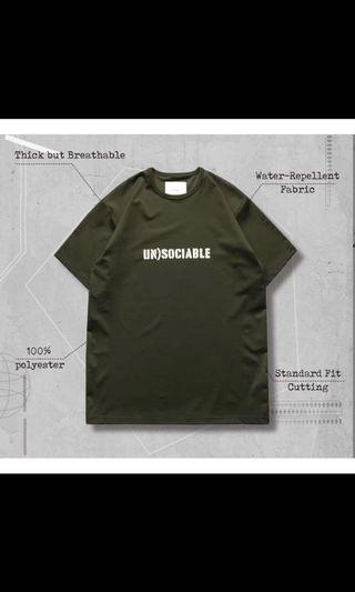 WR-04 Unsociable logo tee 4號軍綠 Goopimade