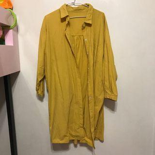 長版黃色襯衫