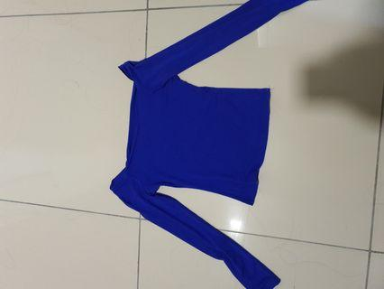 Royal blue stretchable top