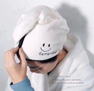 韓國JUFY乾髮帽  女生必買微笑乾髮帽😊😊-4色現貨剩2條囉!