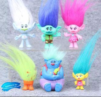 6pcs Trolls Movie 🎥  PVC Figure Collectible Dolls 魔髮精靈