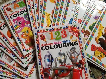 Colouring sticker book
