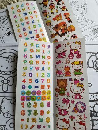 Sticker colouring Book