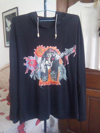 Sweater Hoodie Death Black Metal Ukuran XL