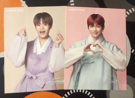 Wanna One Season's Greetings  - Daniel & Daehwi postcard Wanna One World Tour Concert  - Daniel & Jisung photo Power of Destiny Kinho ver  - Daniel pc