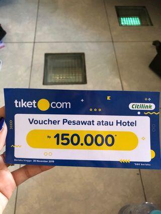 Voucher tiket.com 150.000